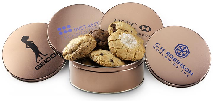 Custom Gift Cookie Tins