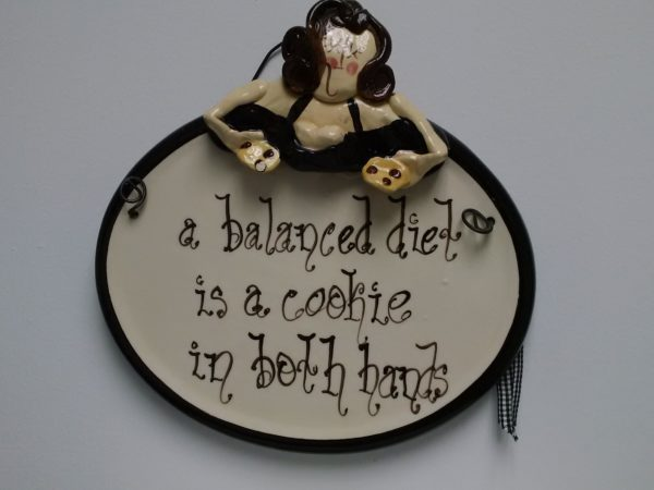 a balanced diet is a cookie in both hands quote