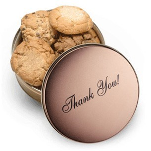 thank you cookie gift tin