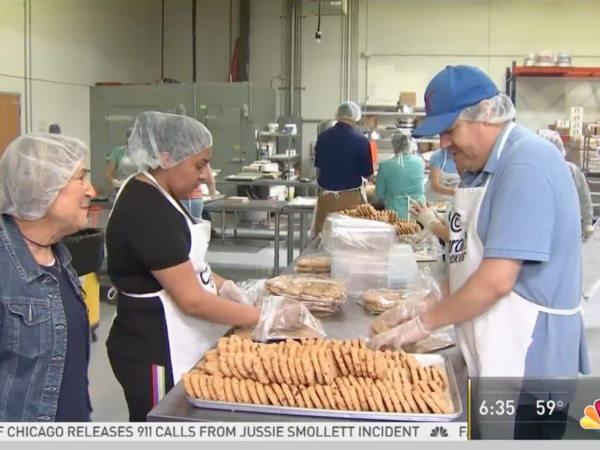 Carol's Cookies bakers on tv segment