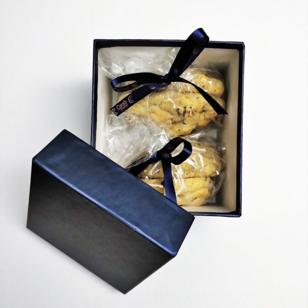 four cookie gift box packaging